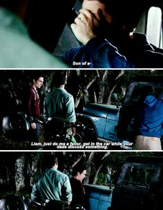 #TeenWolf5x02 ^^^ THIS is too funny because it was what I was thinking OR it could've been Scott is the dad and Stiles is the big brother to Liam. Lol!!!