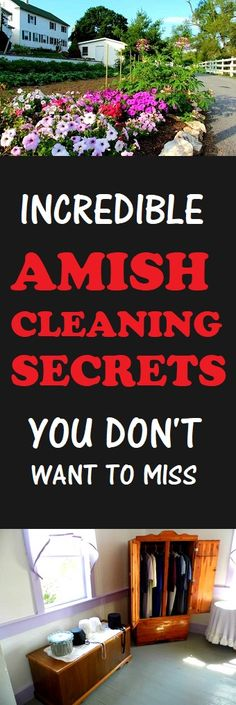 Amish Cleaning Tips You Don't Want To Miss  #cleaning #amish #cleaningtips #home #lifestyle