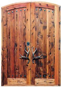 Custom Rustic Doors, Hand Carved Rustic Beauty