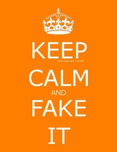 Keep Calm-Fake