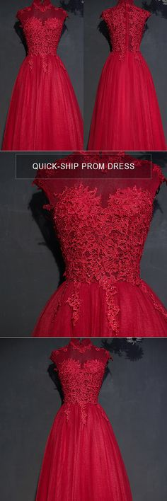 Only $118, Prom Dresses Vintage Lace High Neck Long Tulle Prom Party Dress Burgundy #MYX18102 at #GemGrace. View more special Bridal Party Dresses,Prom Dresses now? GemGrace is a solution for those who want to buy delicate gowns with affordable prices. Free shipping, 2018 new arrivals, shop now to get $10 off!