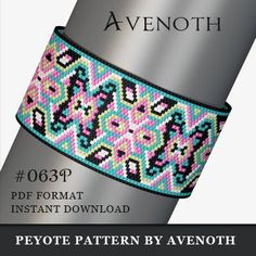 peyote bracelet pattern, bead pattern, beading, peyote stitch, jewelry pattern, peyote bracelet PLEASE NOTE: In purchasing this item, you are buying only a PATTERN in PDF format. This pattern is also intended for users that have experience with peyote, because the pattern does NOT include instructions on how to do this stitch. It will be available for instant download as soon as payment is received. If you don't know how to download digital file after purchasing, this link might help you…