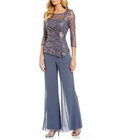 Emma Street Lace Chiffon 2-Piece Pant Set Pantaloni Di Chiffon bcee9afe0e6