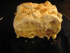 Heavenly Banana Pudding Dessert with cream cheese and sweetened condensed milk