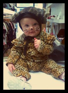 Adorable in her Oh Baby London Halloween costume