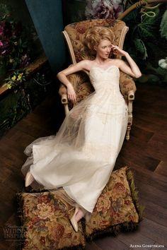 alena goretskaya papilio bridal 2014 grace strapless wedding dress