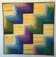 CLEARANCE. Quilted wall hanging. Geometric quilt. Abstract art. 40x40 in. Modern quilt. Original design. 3D quilt. Textile art. Geometry.