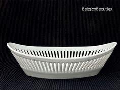 Retro Porselein mand opengewerkt Meretitz Klasterec Tsjechoslowakije interbellum twenties porcelaine porcelain Porzellan porcelán porcelana door BelgianBeauties op Etsy