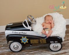 CHP baby boy..CHP patrol car baby boy..CHP pride Newborn baby boy Find me on Facebook at Jen Christine Photography (Used to be Cali Girl Photography. Same business, same owner, just a new name. )