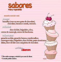 mary cupcakes www.mycakes-mary.blogspot.com.br mariaantoniamartins@gmail.com