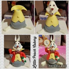 White Rabbit and Alice in Wonderland Cake – Little Peach Cakery Alice Rabbit, Alice In Wonderland Rabbit, Alice In Wonderland Tea Party Birthday, Alice In Wonderland Cakes, Wonderland Party, Fondant Rabbit, Rabbit Cake, Clay Projects, Clay Crafts