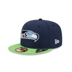 Seattle Seahawks New Era NFL On Stage Draft 59Fifty Fitted Hat (Blue)