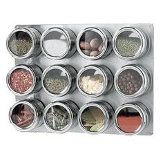 Magnetic spice racks would save some counter space
