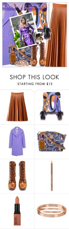 """""""Untitled #138"""" by shewalksinsilence ❤ liked on Polyvore featuring Emilio Pucci, Carven, Dooney & Bourke, Prada, Lord & Berry, Burberry and Bobbi Brown Cosmetics"""
