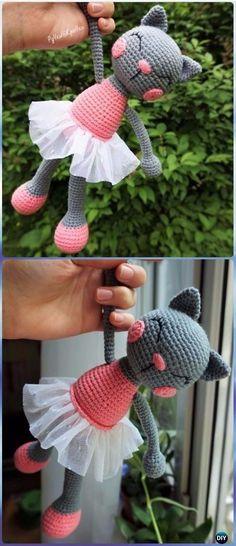 Crochet Amigurumi Ballerina Cat Doll Free Pattern - Crochet Amigurumi Cat Free Patterns