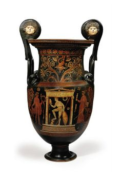 AN APULIAN RED-FIGURED VOLUTE-KRATER   ATTRIBUTED TO THE PAINTER OF COPENHAGEN 4223, CIRCA 340 B.C.