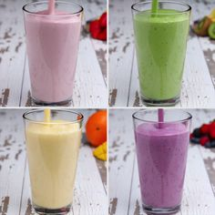 Breakfast Smoothie Meal Prep 4 Ways Green smoothie ! The post Breakfast Smoothie Meal Prep 4 Ways appeared first on Welcome! Smoothie Drinks, Healthy Smoothies, Healthy Drinks, Healthy Snacks, Healthy Recipes, Smoothie Prep, Smoothie Detox, Spinach Smoothie Recipes, Freezer Smoothie Packs