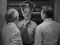 The Andy Griffith Show / Episode: Barney's Physical / Asa & Andy stretch Barney so he can meet the height requirement for being a deputy. Rhinelander Wisconsin, Barney Fife, Don Knotts, The Andy Griffith Show, Childhood Tv Shows, Old Shows, Great Tv Shows, Old Tv, Classic Tv