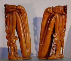 Paar gestileerde beelden van een man en vrouw - Bali - Indonesië - Catawiki