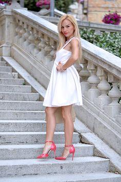 Sergio Levantesi shoes, tacchi in vernice, pumps, vestito bianco, white dress, outfit summer 2014 italian fashion blogger It-Girl by Eleonora Petrella