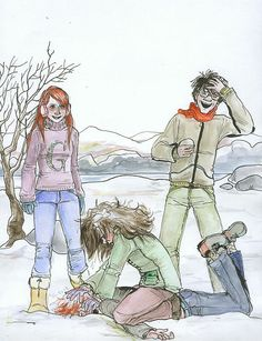 Harry, Ginny, Ron y Hermione - Memes Harry Potter Harry Potter Fan Art, Hermione Fan Art, Ron Et Hermione, Harry Potter Drawings, Harry Potter Fandom, Harry Potter Memes, Harry Y Ginny, Ginny Weasley, Daniel Radcliffe