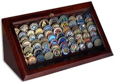 Military Coin Display Case - Need to get him one of these!