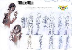 Waves War: Sketchs.