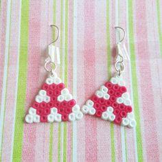 Earrings hama mini beads by nattawi123