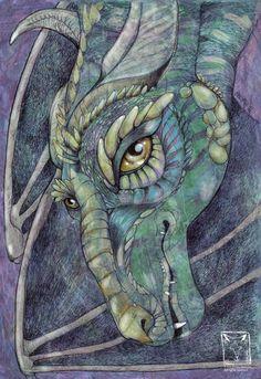 Sketchy Dragon by John Howe