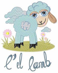 Lil Lamb Embroidery Design | AnnTheGran