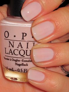 OPI Bubble Bath. Pink neutral natural nails on hands unless a special occasion! Bright, vivid or dark toes year round!!!