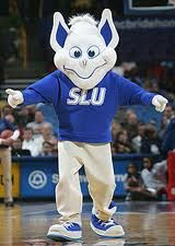 SLU BILLIKEN. As a friend said, it looks like what you get when you cross the grinch and a yard gnome!