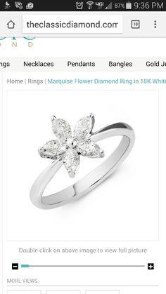 Marquis flower diamond ring