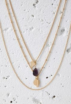 Layered Geo Charm Necklace | Forever 21 - 1000055969