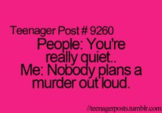 Sometimes I do plan murders in my head.... Did I just type that?!