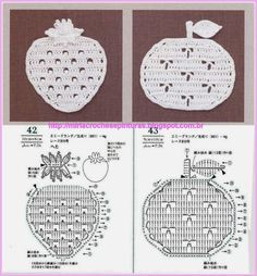 REGINA RECIPES OF CROCHE AND AFINS: graphic apples apples etc ......... For dishcloths