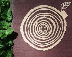 papercut tree rings