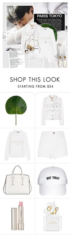 """""""492:White Day"""" by unicorn-plushie ❤ liked on Polyvore featuring Again, MANGO, Converse, Balmain, River Island, French Connection, By Terry, Marc Jacobs, Chanel and SIWA"""