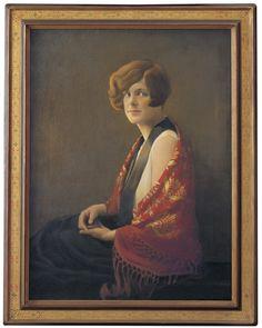Grant Wood – Portrait of Frances Fiske Marshall, 1929
