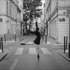 Ballerina Project in Paris: #Ballerina - @katieboren1 in #SaintMichel #Paris Outfit by @wolfordfashion #Wolford #WolfordDress #ballerinaproject_ #ballerinaproject #ballet #dance