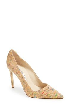 "Free shipping and returns on Manolo Blahnik 'BB' Cork Pump (Women) at Nordstrom.com. <p><B STYLE=""COLOR:#990000"">Pre-order this style today! Add to Shopping Bag to view approximate ship date. You'll be charged only when your item ships.</b></p><br>Manolo Blahnik's iconic pointy-toe pump is done up here in neutral-hued cork with burst of confetti color."