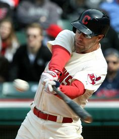 Cleveland Indians David Murphy connects for a single in the seventh inning, his fourth hit in the game against Minnesota Twins at Progressive Field on April 6, 2014. Murphy ended up 4 -or-5 for the game. (Chuck Crow/The Plain Dealer)