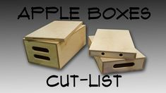 Cut-list for apple boxes – both for sheet goods & sheet goods Apple Boxes, Table Saw, Sled, Wood Projects, Usb Flash Drive, How To Plan, Photography Studios, Studio Ideas, Home Decor