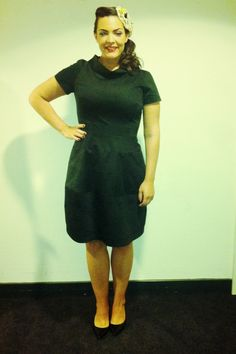 Sept/Oct 2013, TSME Tour Dress: Suzannah Hat: vintage Shoes: L.K. Bennett