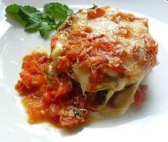 Recipe Auberginenauflauf mit Tomatensauce und Pesto
