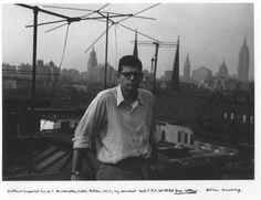 Allen Ginsburg in NYC. Photo taken by William S. Burroughs, 1953.