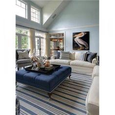 dash and albert blue awning stripe rug