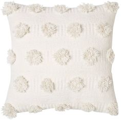 Everyone will want the Cream Pom Dot Square Throw Pillow from Nate Berkus for their own. This comfortable polka dot accent pillow has a thick texture in small doses. Cream Couch, Cream Pillows, White Throw Pillows, Accent Pillows, Colorful Throw Pillows, Small Pillows, Nate Berkus, Decor Pillows, Bed Pillows