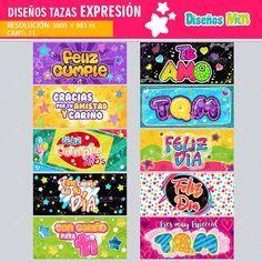 Diseños De Expresión Social Colorido Feliz Día Para Taza diseños amor # #mottaplantillas #motta #love  #teamo #amistad Send An Email, Mug Template, Sublimation Mugs, Powerpoint Word, Expressions, Png Format, Happy Day, Love, Design