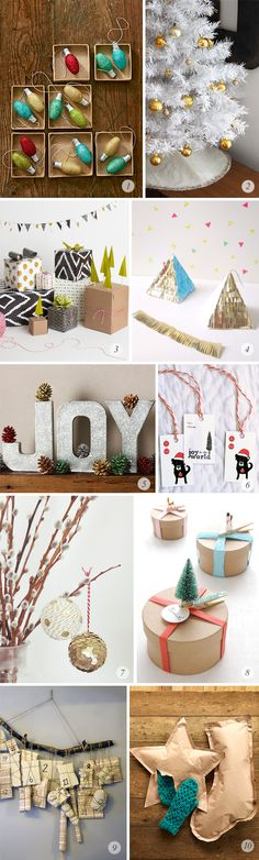 10 Great Holiday DIY Projects // Bubby and Bean Love the star and stocking paper bag gift wrap! Definitely stealing that idea this season!